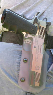 Translucent holster for Springfield 1911