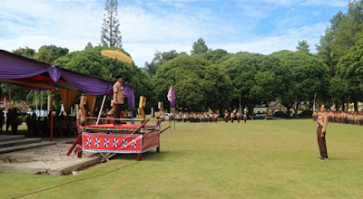 Bupati Lampung Barat Pimpin Apel HUT Pramuka ke-57