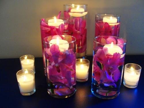 Submerged Flower Wedding Centerpieces