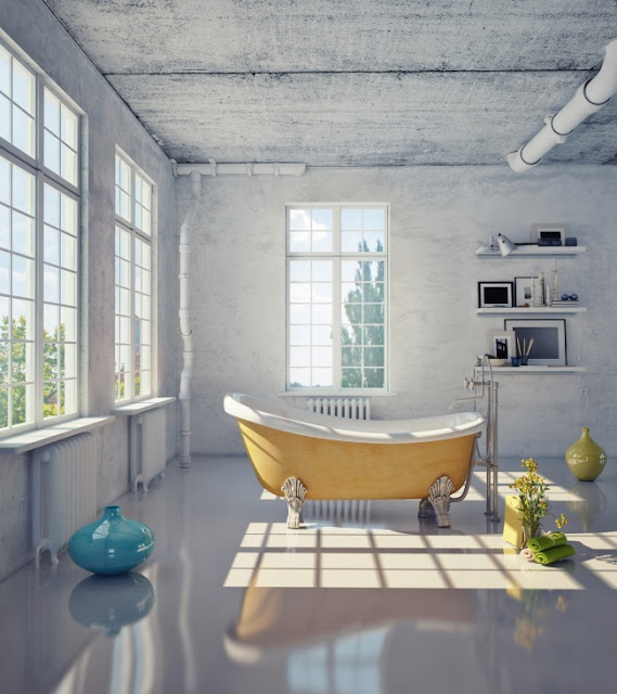 Green Pear Diaries, diseño, bañeras, baño, creatividad