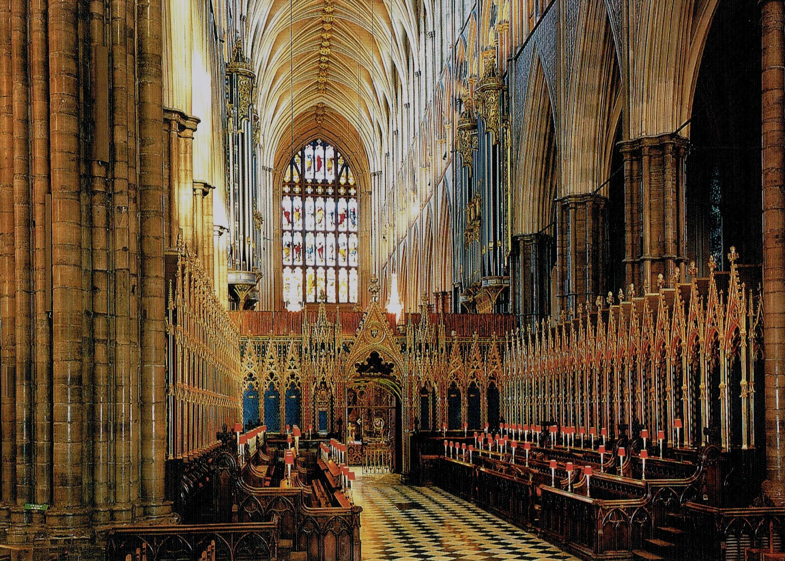 postcard of Westminster Abbey