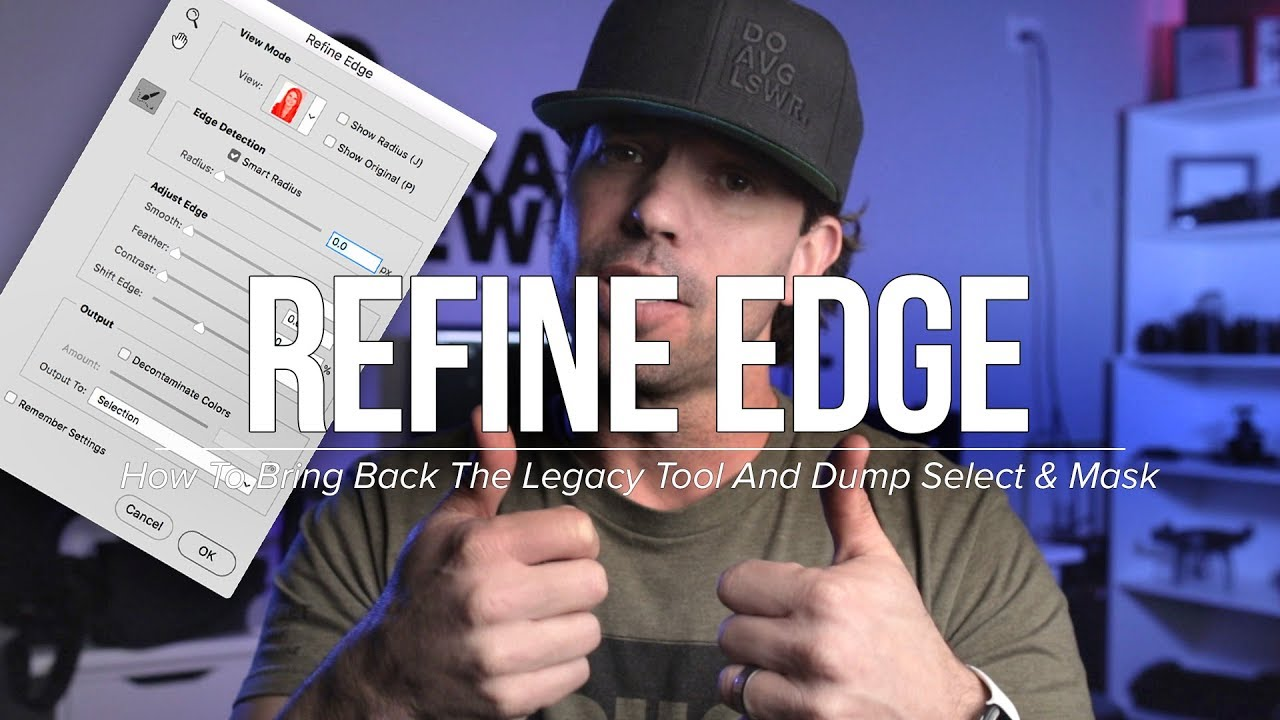 How To Bring Back Photoshop's Legacy Refine Edge Tool