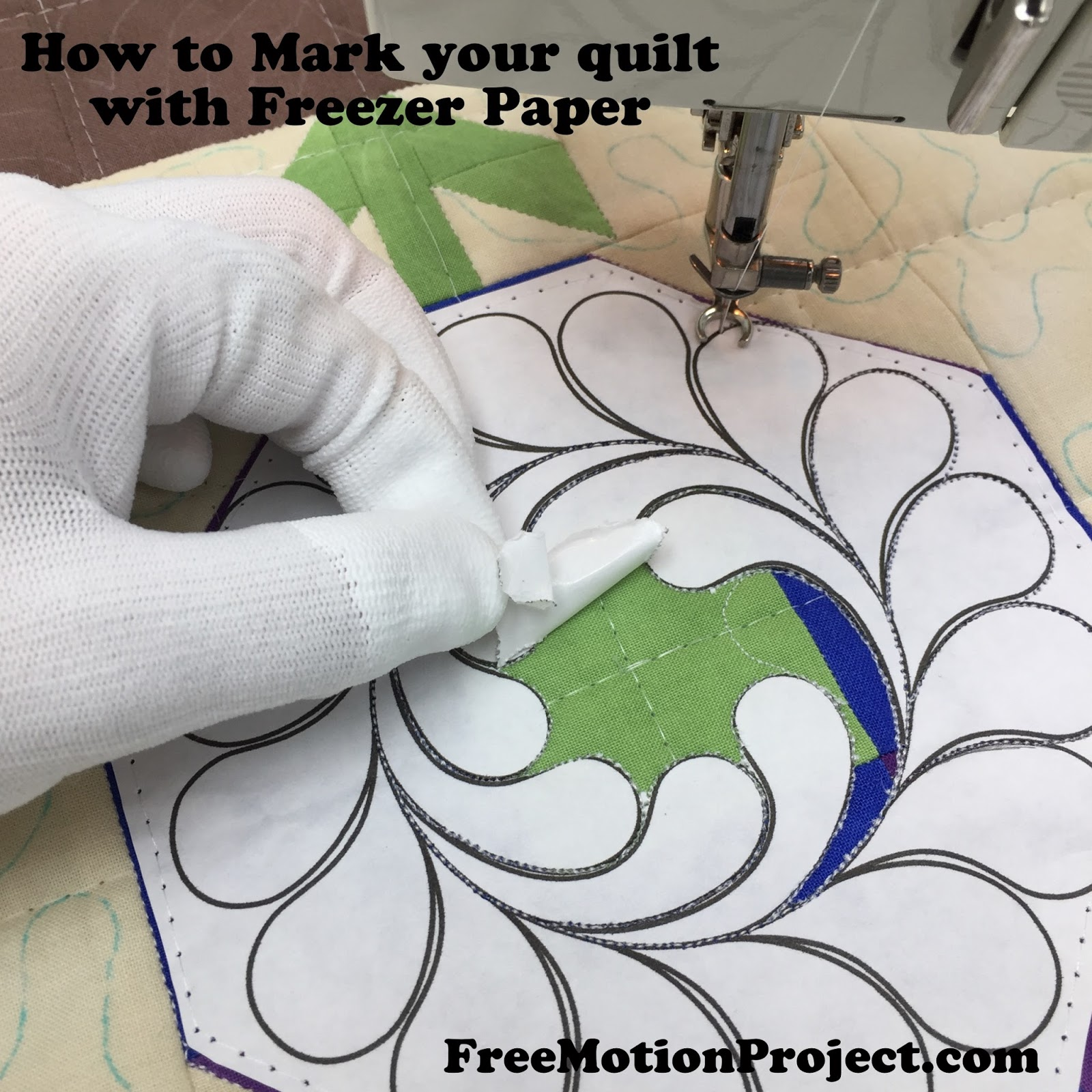 The Free Motion Quilting Project: Quilting Basics 4: How to Mark ... : freezer paper quilting - Adamdwight.com