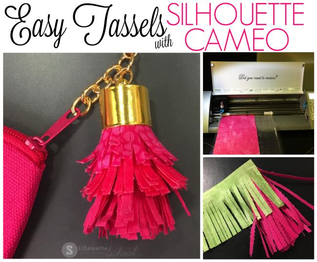 tassel silhouette cameo tutorial fabric