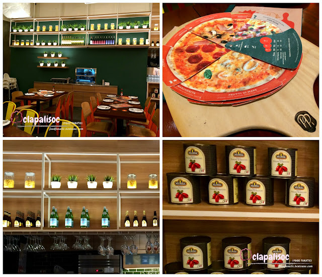 Interiors of Peperoni Pizzeria in BGC