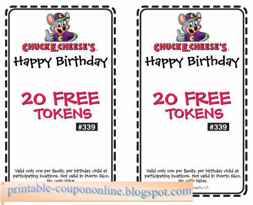Chuck e cheese coupons 2018 nyc