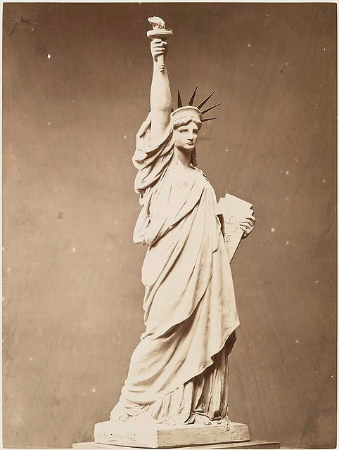Model of the Statue of Liberty. Fernique, Albert -- Photographer. 1883. Source: Album de la construction de la Statue de la Liberte. Repository: The New York Public Library. Photography Collection, Miriam and Ira D. Wallach Division of Art, Prints and Photographs