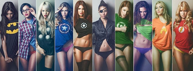 girls wearing superhero tshirt tops