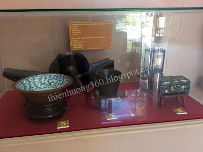 Những hiện vật của cụ Sắc đã sử dụng trong thời gian ở làng Hoà An, Cao Lãnh