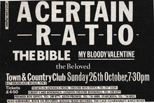 26 Oct 1986, Town & Country Club, London
