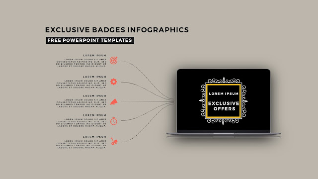 Infographic Badges Free PowerPoint Template for Special Offers Slide 12