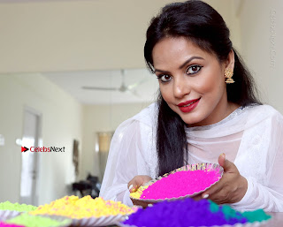 Bollywood Actress and Producer Neetu Chandra Special Po Shoot Gallery in a Dry Holi Celetion  0017.JPG
