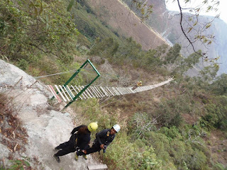 ponte, trilha, salkantay trek, salkantay, peru, diabetes