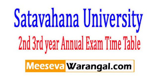 SU UG 2nd 3rd year Annual Exam Time Table 2017