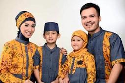 40 Model Batik Sarimbit Couple Ayah, Ibu dan Anak Modern 2019