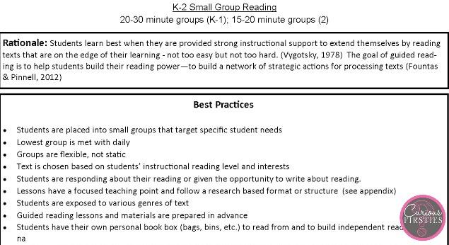 building a literacy framework