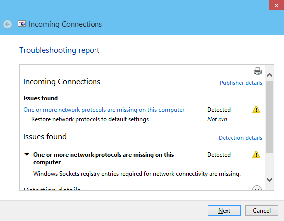 one or more network protocols are missing on this computer windows 10 [SOLVED]