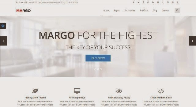 Margo - Multi-purpose Bootstrap Template