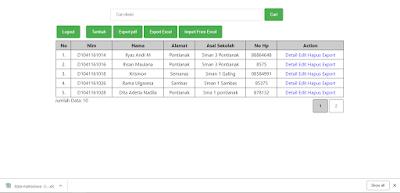 export data dari database kedalam excel dengan php