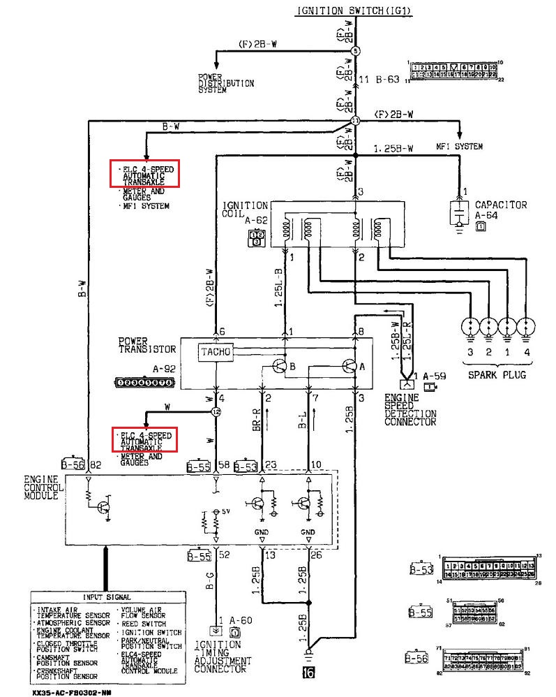 Electrical wiring diagram for 4g9x