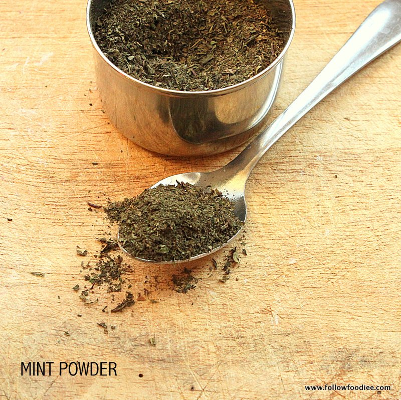MINT LEAVES POWDER |  DRIED MINT LEAVES POWDER | PUDINA PODI