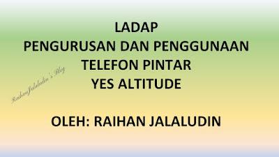 Pengurusan dan Penggunaan Telefon Pintar YES Altitude (LADAP)
