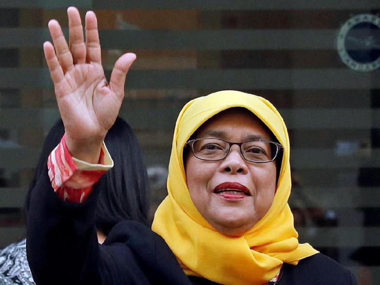 Mengenal Halimah Yacob, Penjual Nasi Padang itu Kini Jadi Presiden Singapura