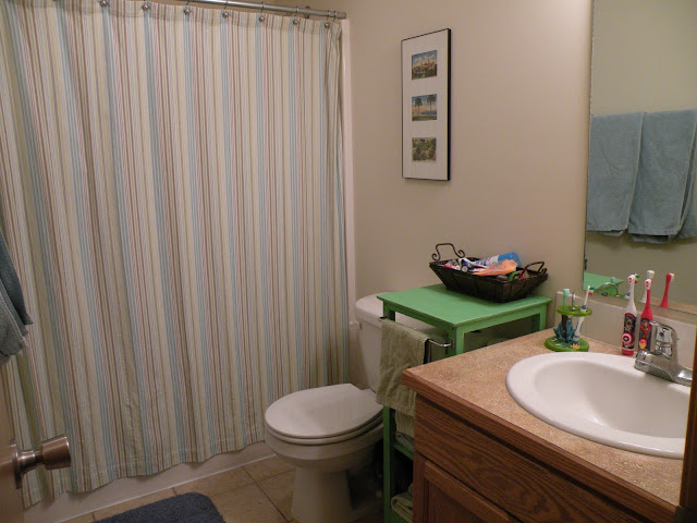 White bathroom before painting