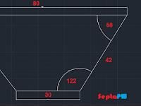 Step 2 Belajar Dasar Autocad 2D - Menggambar Garis (Line) dengan Sudut dan Garis Bantu