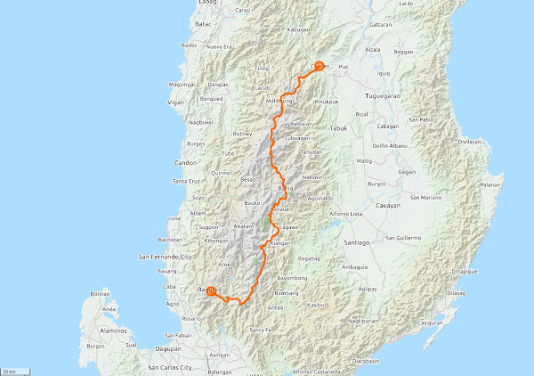 The Great Cordillera Traverse Trail Map