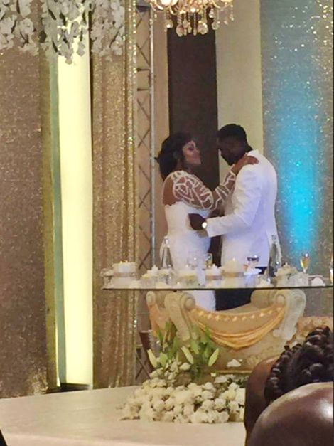 LEAKED! When Nana Ama McBrown Took To The Dance Floor With Husband In Her Wedding Gown