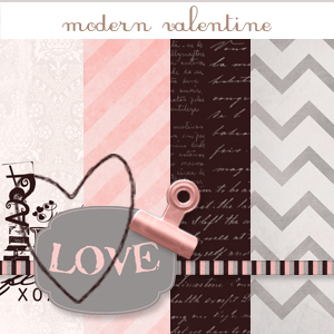 Scrapbook Kit: Modern Valentine.