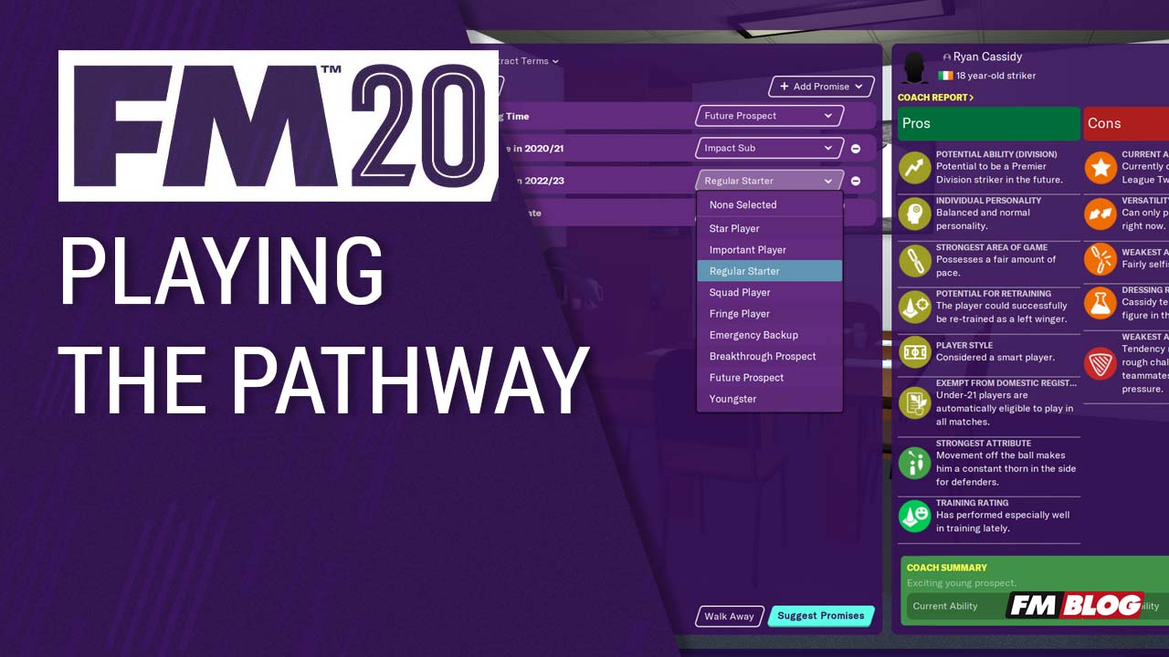 FM20 New Features - Playing The Pathway