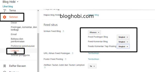URL Feed Singkat Blogger