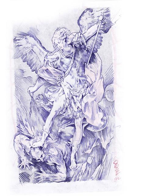 Archangel Michael Tattoo Stencil Archangel michael tattoo stencil a ...
