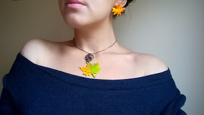 Colier frunze de toamna