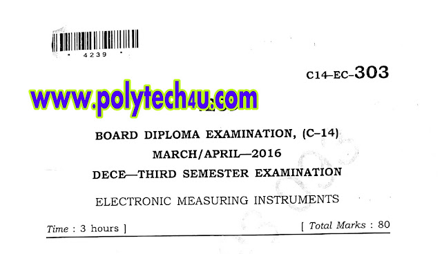 ELECTRONIC MEASURING INSTRUMENTS OLD QUESTION PAPER C-14 ECE