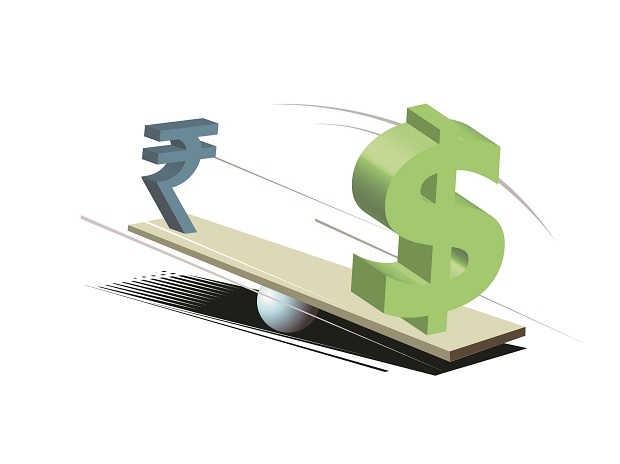 Rupee trades lower against dollar in early trade