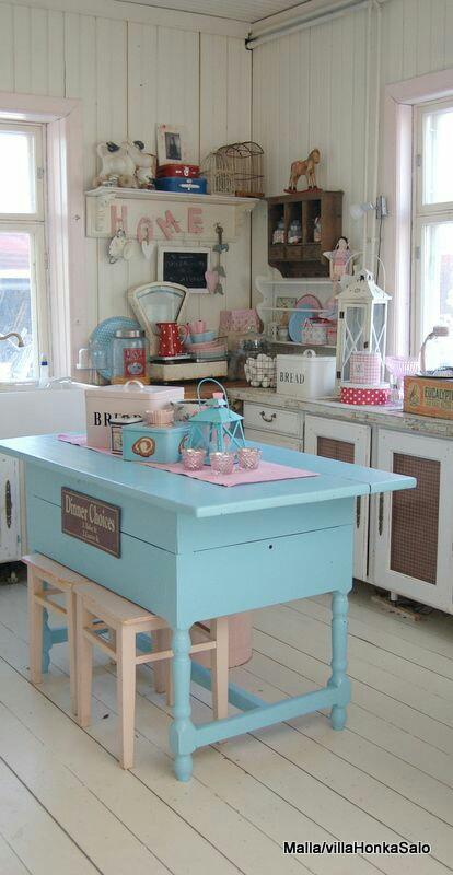 Koleksi Belalang Post Deco dapur Shabby Chic yang comel