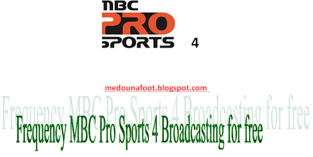 Frequency MBC Pro Sports 4 on Badr