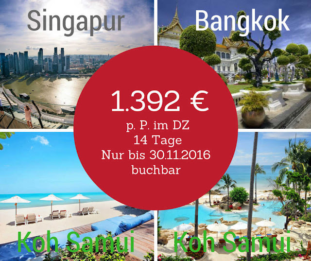 Singapore Airlines Special: Bangkok Koh Samui Singapur