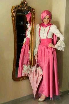 Inspirasi gaun pesta muslimah dari timur tengah