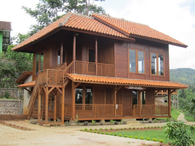 rumah kayu model panggung