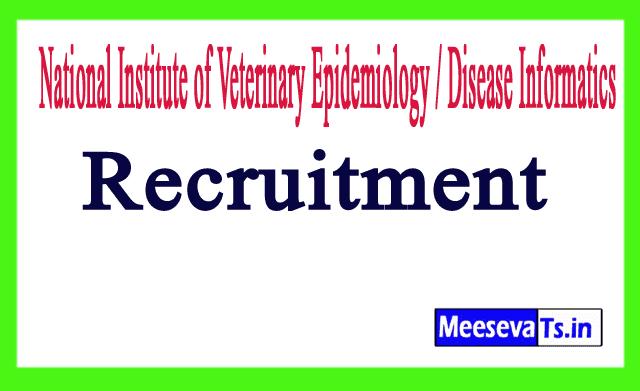 National Institute of Veterinary Epidemiology / Disease Informatics NIVEDI Recruitment