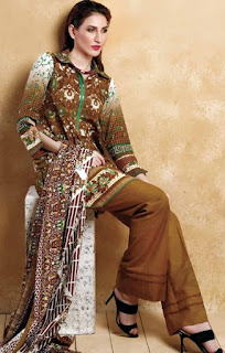 Gul Ahmed Winter Linen Collection 2017