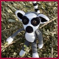 Lemur grande amigurumi