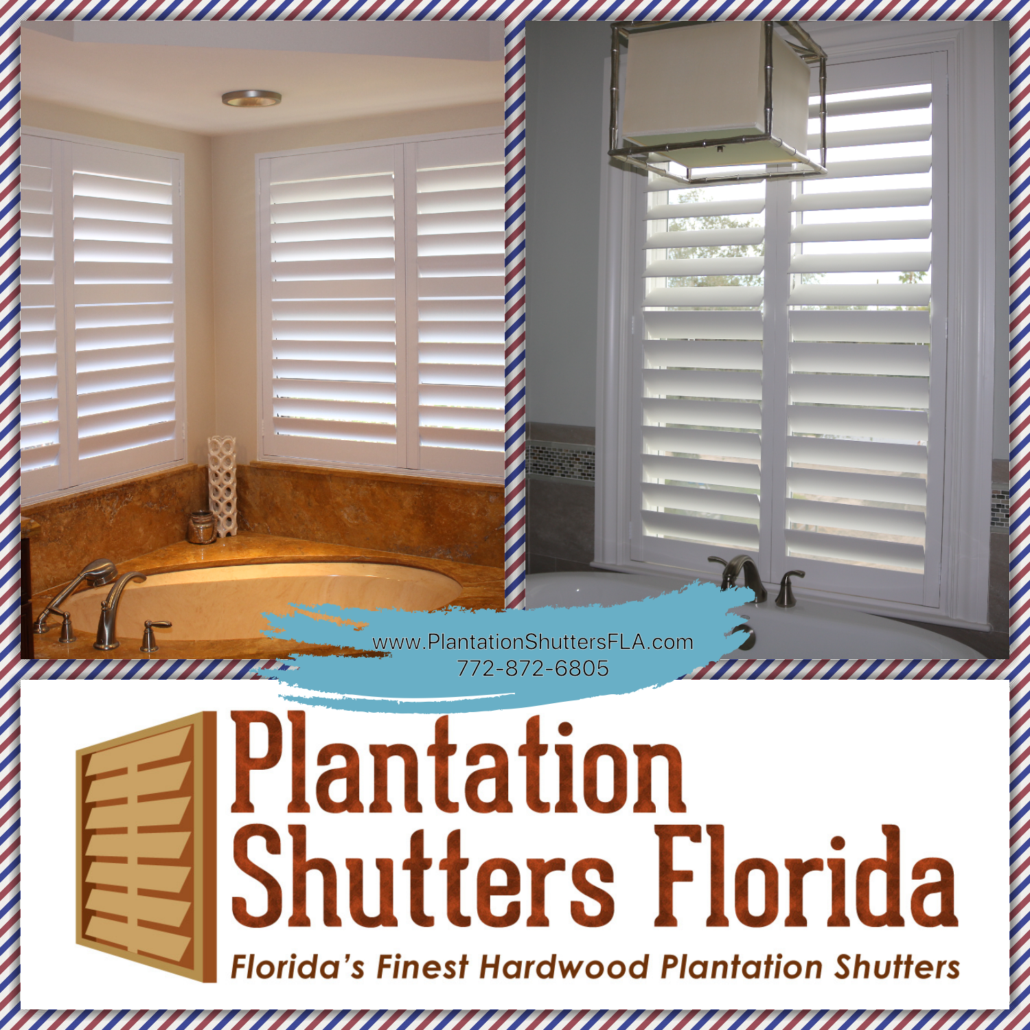 Exterior: Plantation Shutters Made In The USA