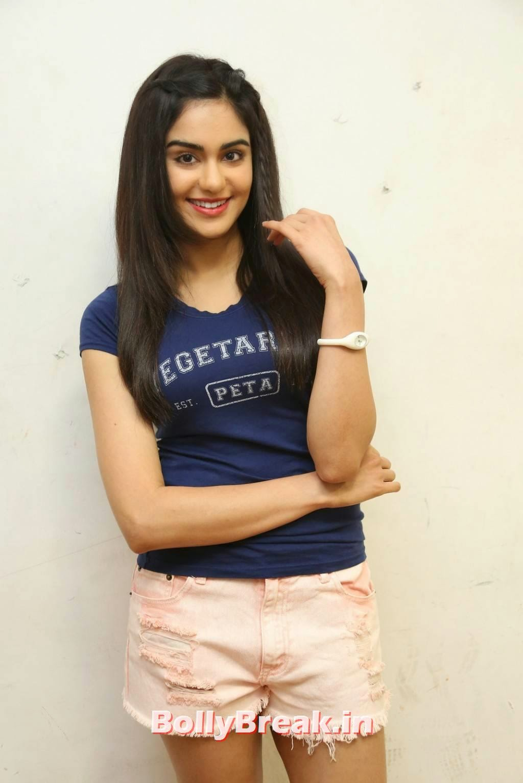 , Adah Sharma HD Pics in Blue Top, Pink Shorts at PETA event