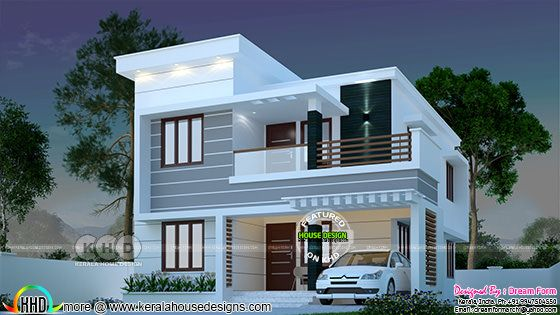 1145 sq-ft 3 bedroom modern Kerala house