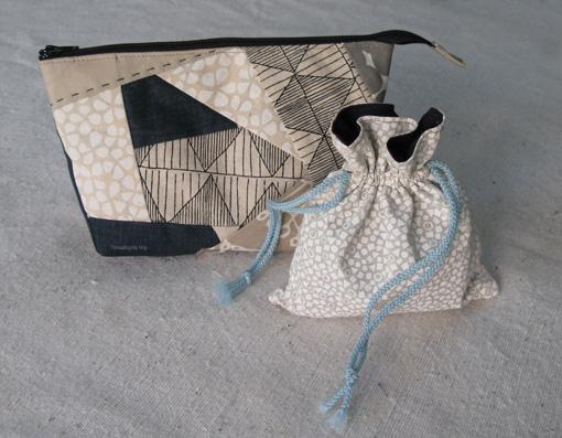 Threading My Way: Small Lined Drawstring Bag Tutorial...
